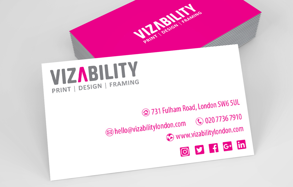 Business Cards – Vizability London